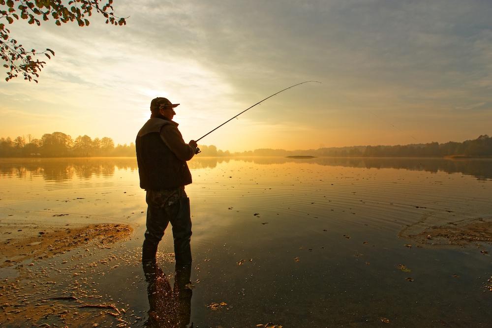 fishing at east grand lake