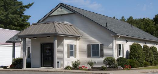 Machias Savings Bank in Danforth - front of building