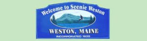Town of Weston sign
